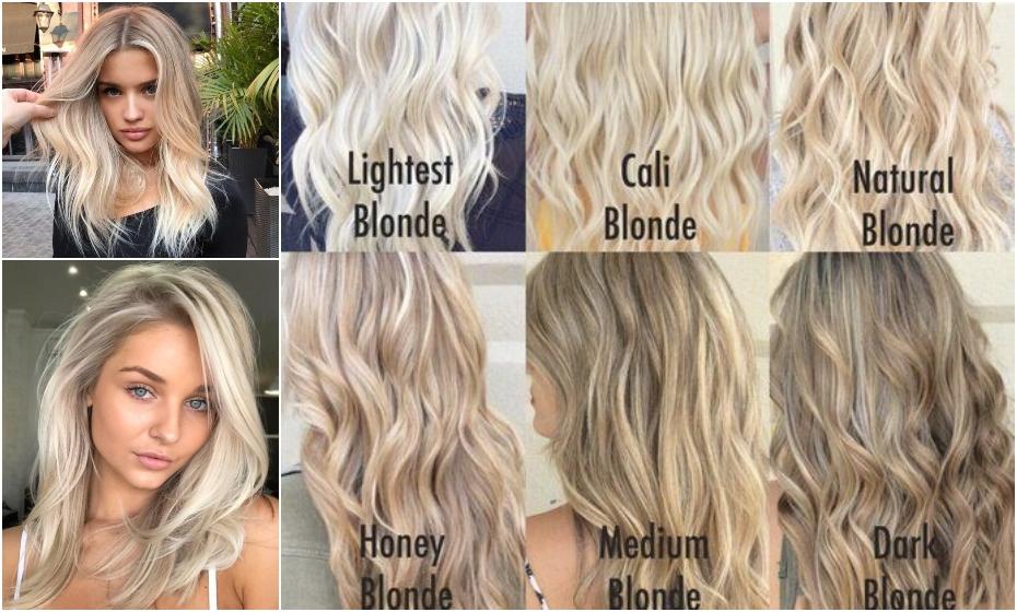 druhy blond vlasov