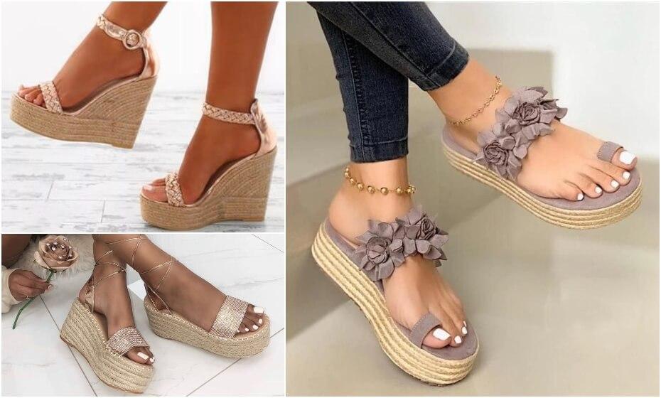 elegantné letné topánky na plaforme