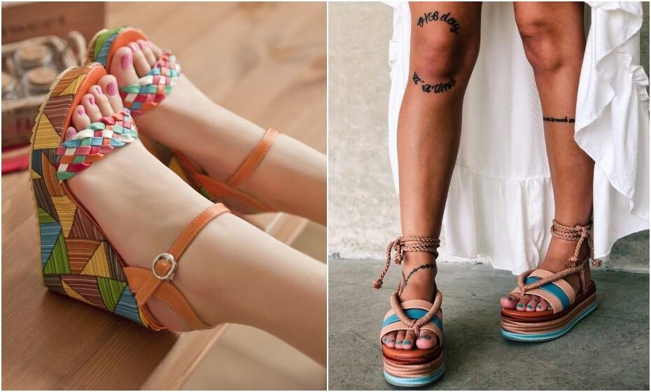 farebné letné topánky