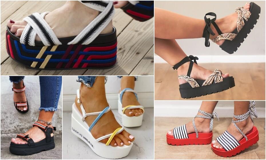 gumené letné topánky na platforme