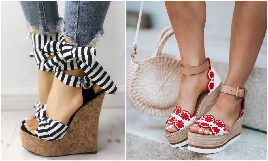letné topánky na platforme