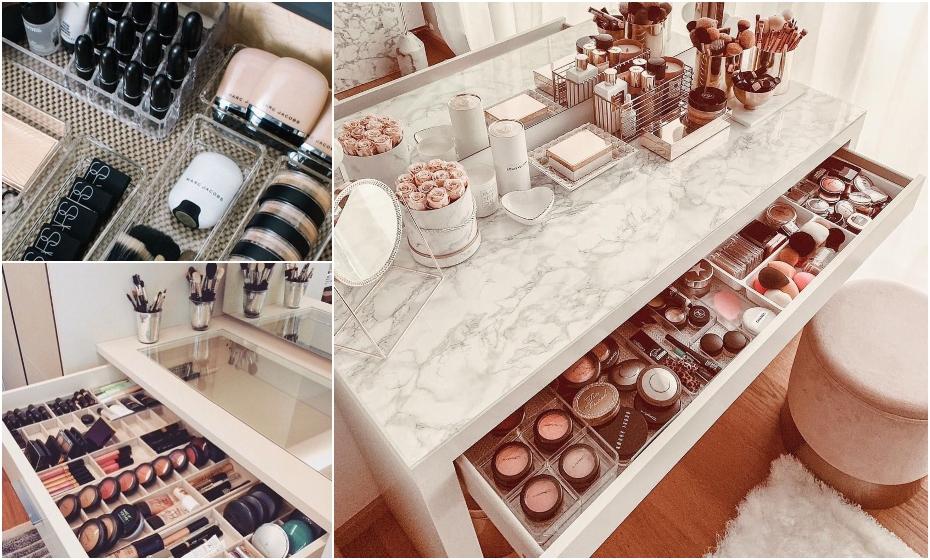 ako skladovať dekoratívnu kozmetiku