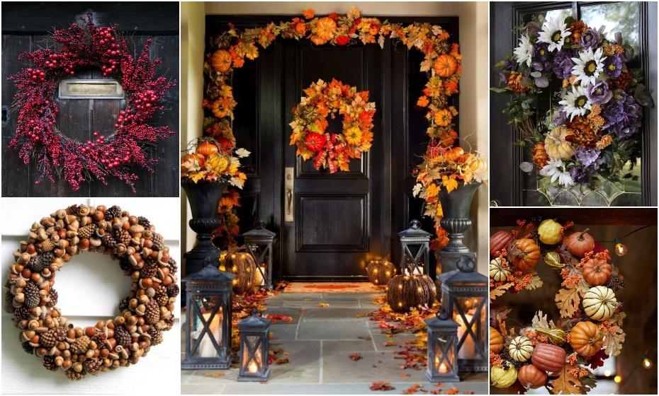 Jesenné vence na dvere