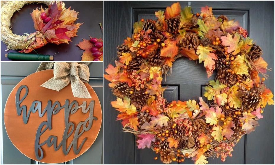jesenný veniec z listov