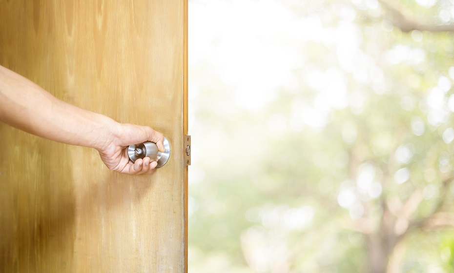 dvere v sne