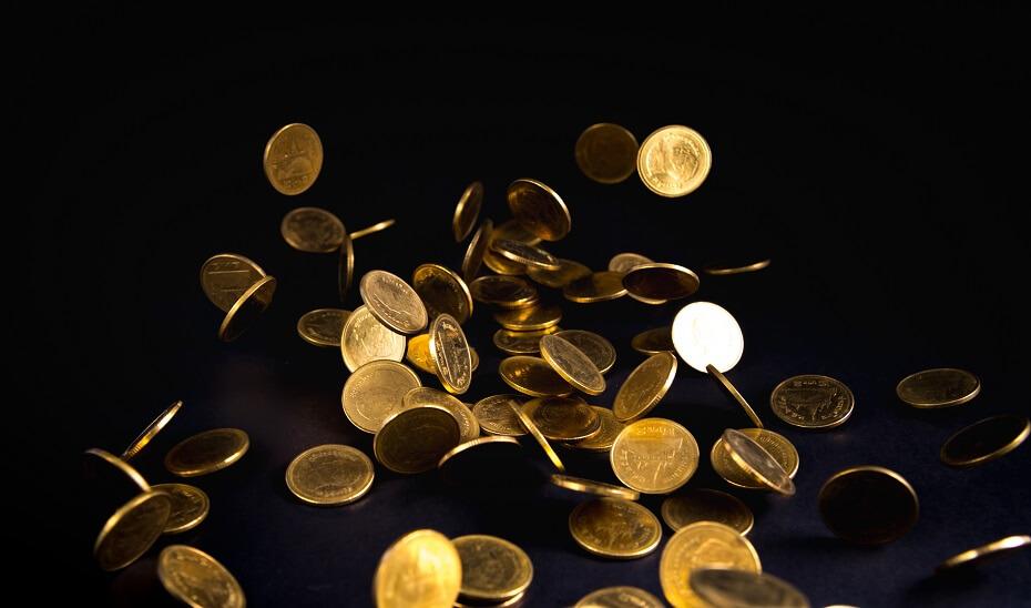 snár peniaze mince