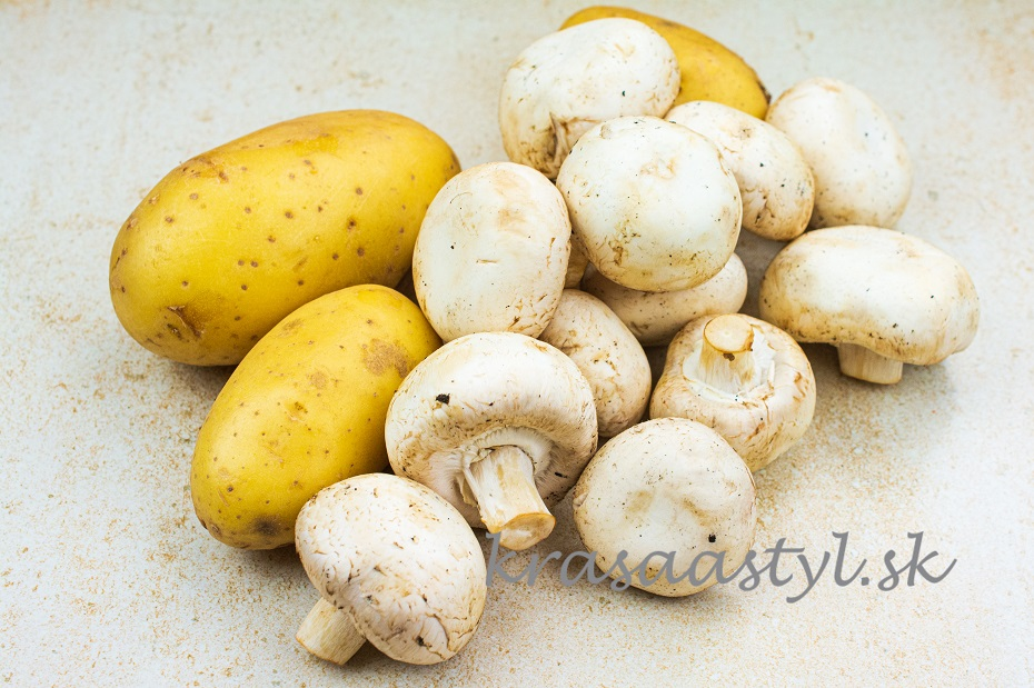 Šampiňóny a zemiaky