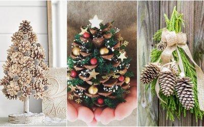 Vianočné dekorácie zo šišiek: Pozri, čo sa dá vyčarovať z tohto prírodného materiálu