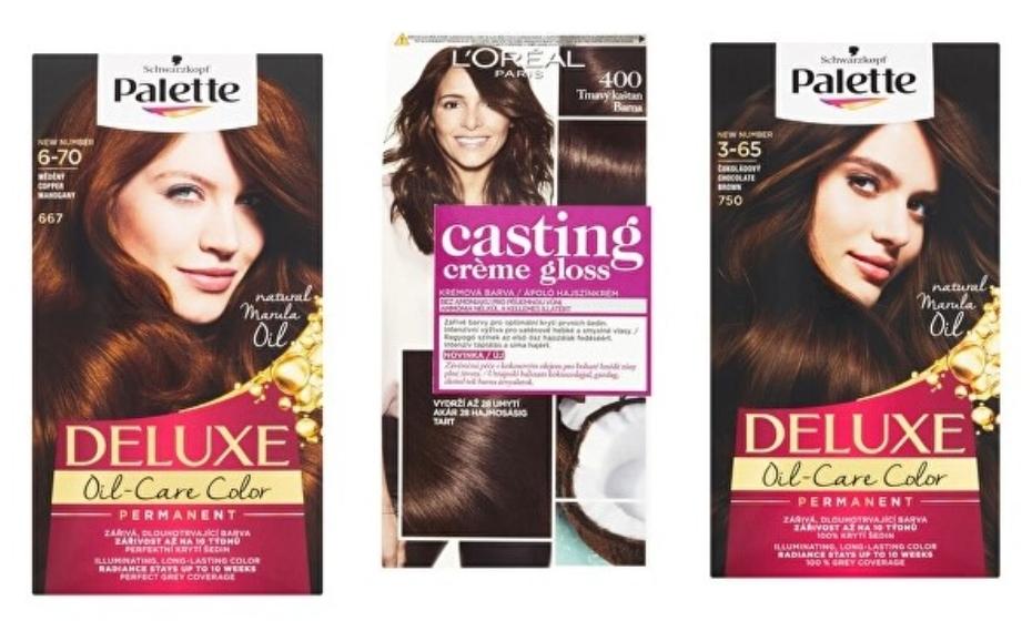hnedé farby na vlasy