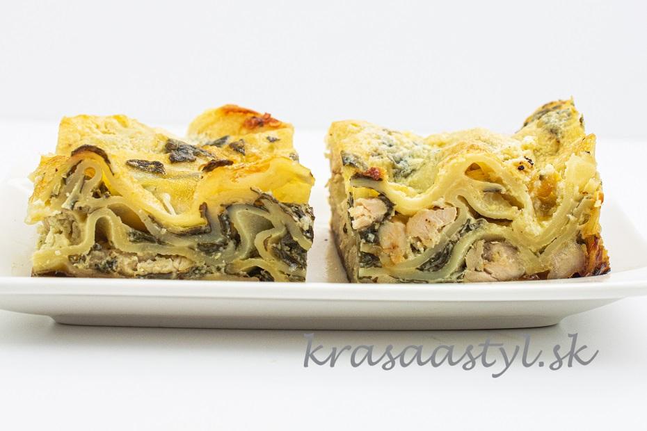 lasagne s mäsom a špenátom