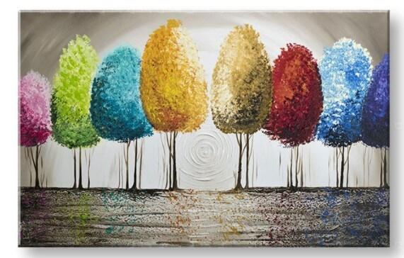 farebné stromy