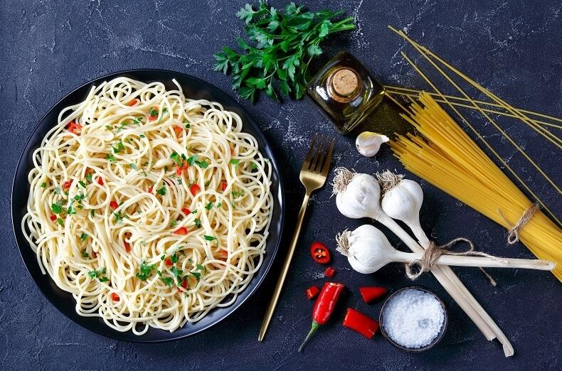 recept špagety aglio olio