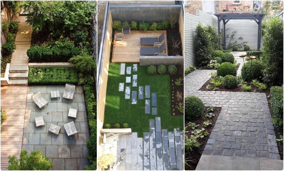 malá záhrada členenie